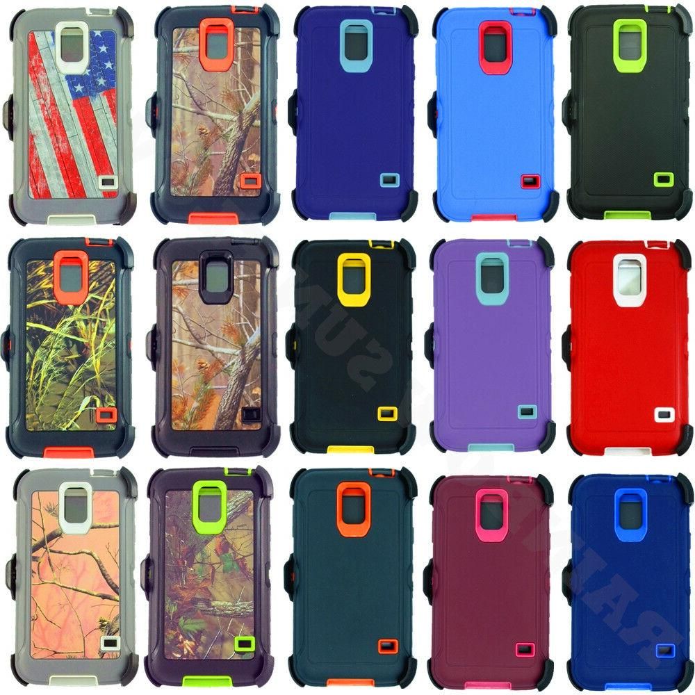 For Samsung Galaxy S5 Heavy Duty Defender Case Cover w/ Belt