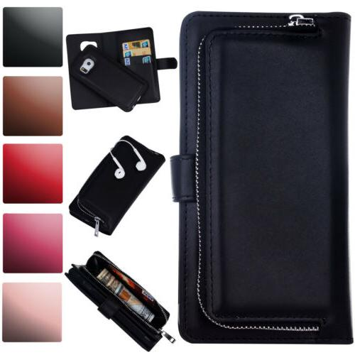For Samsung Galaxy S5 PU Leather Flip Phone Case Magnetic Zi