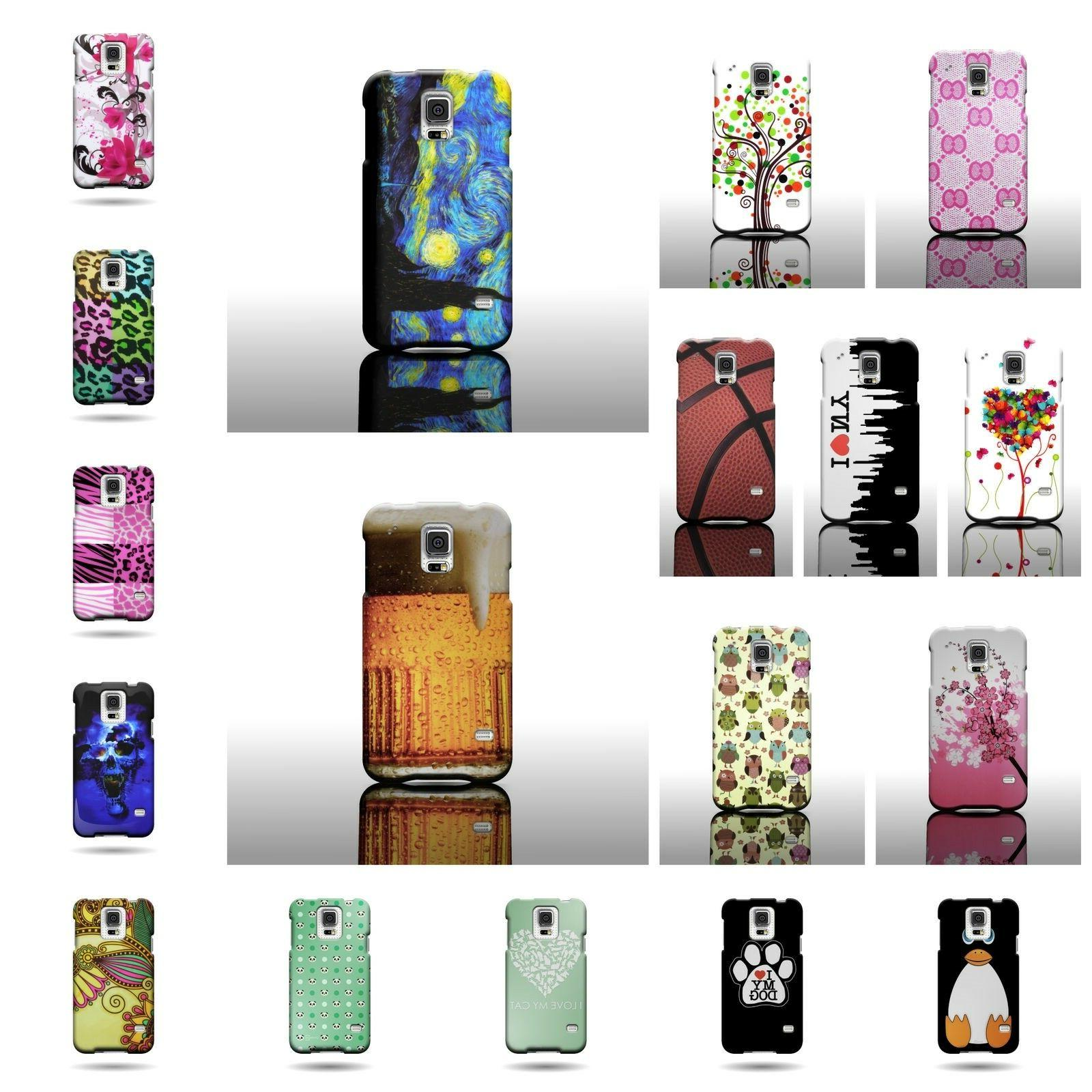 For Samsung Galaxy S5 - Premium Hard Snap On Plastic Design