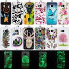 For Samsung Galaxy S5 S6 S7 A8 2018 Luminous Soft Silicone T