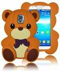 For Samsung Galaxy S5 i9600 - 3D Light Brown Teddy Bear Sili