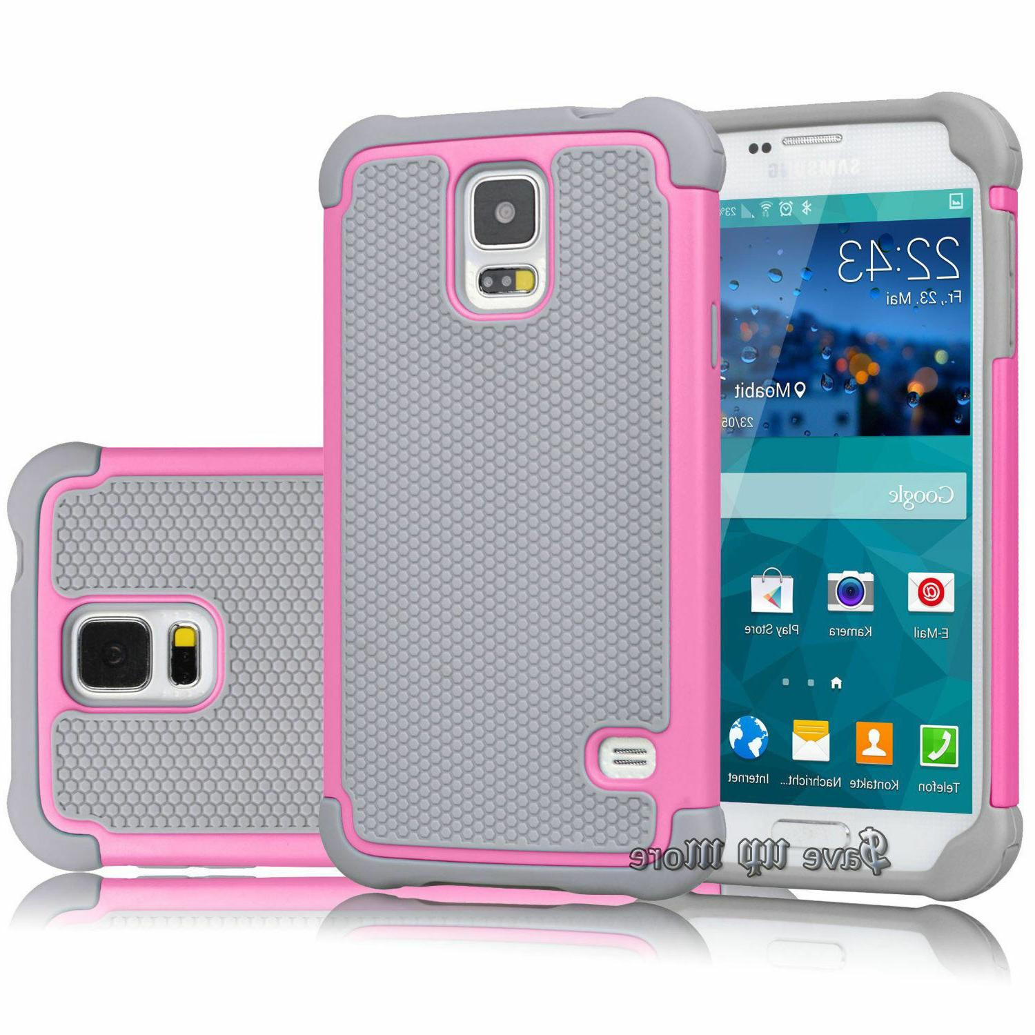 For Galaxy Case Hybrid Rugged Hard Cover+Glass Screen