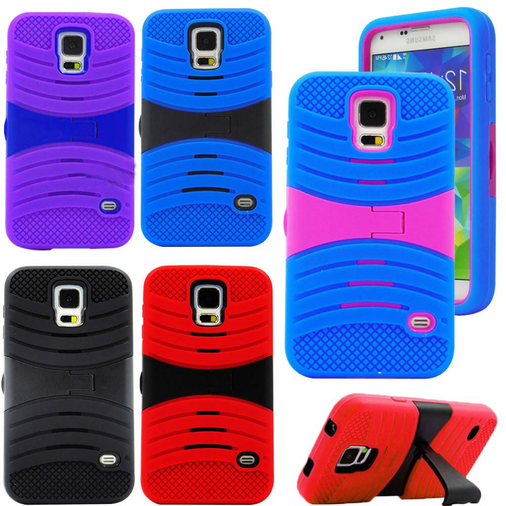 For Samsung Galaxy S5 i9600 Heavy Duty Dual Layer Case Cover