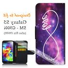 For Samsung Galaxy S5 sm-G900i Wallet Flip Phone Cover Infin