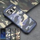 For Samsung Galaxy S8 A3/5 2017 Camo Tough Rubber Shockproof