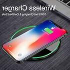 For Samsung Galaxy S8,S7,Note 5*Iphone8,X Fast Qi Wireless C