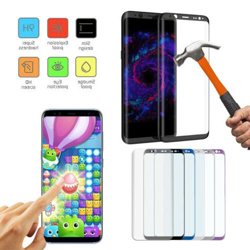 For Samsung Galaxy S9 S8 3D Curved Tempered Glass Coverage F