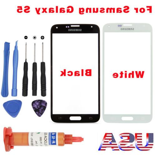 Front Glass Screen Outer Screen Lens Replacement Kit For Sam