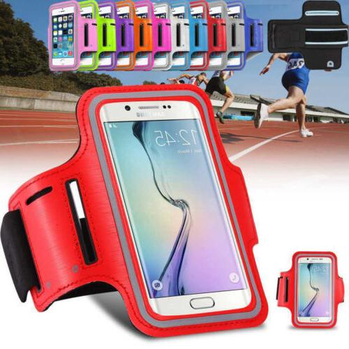 Galaxy S8 S7 S6 Gym Running Jogging Sports Armband Exercise