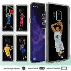 Galaxy S9 S8 Plus Note 8 S6 S7 Edge Case Basketball II Clear