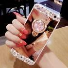 Glitter Luxury Women Bling Diamond Mirror Case Cover For iPh