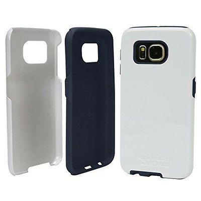 Guard Dog Galaxy S7 Hybrid Phone Case-White with Blue