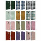 HEAD CASE DESIGNS PLAID LEATHER BOOK WALLET CASE FOR SAMSUNG