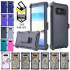 Heavy Duty Hybrid Case Shell+ Tempered Glass, Belt Clip Fit