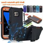 Heavy Duty Hybrid Full Cover w Belt Clip Case For Samsung Ga