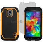 Hybrid Rubber Case+LCD Screen Protector for Phone Samsung Ga