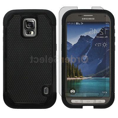 Hybrid Rubber Case+LCD Screen Shield for Samsung Galaxy S5 A