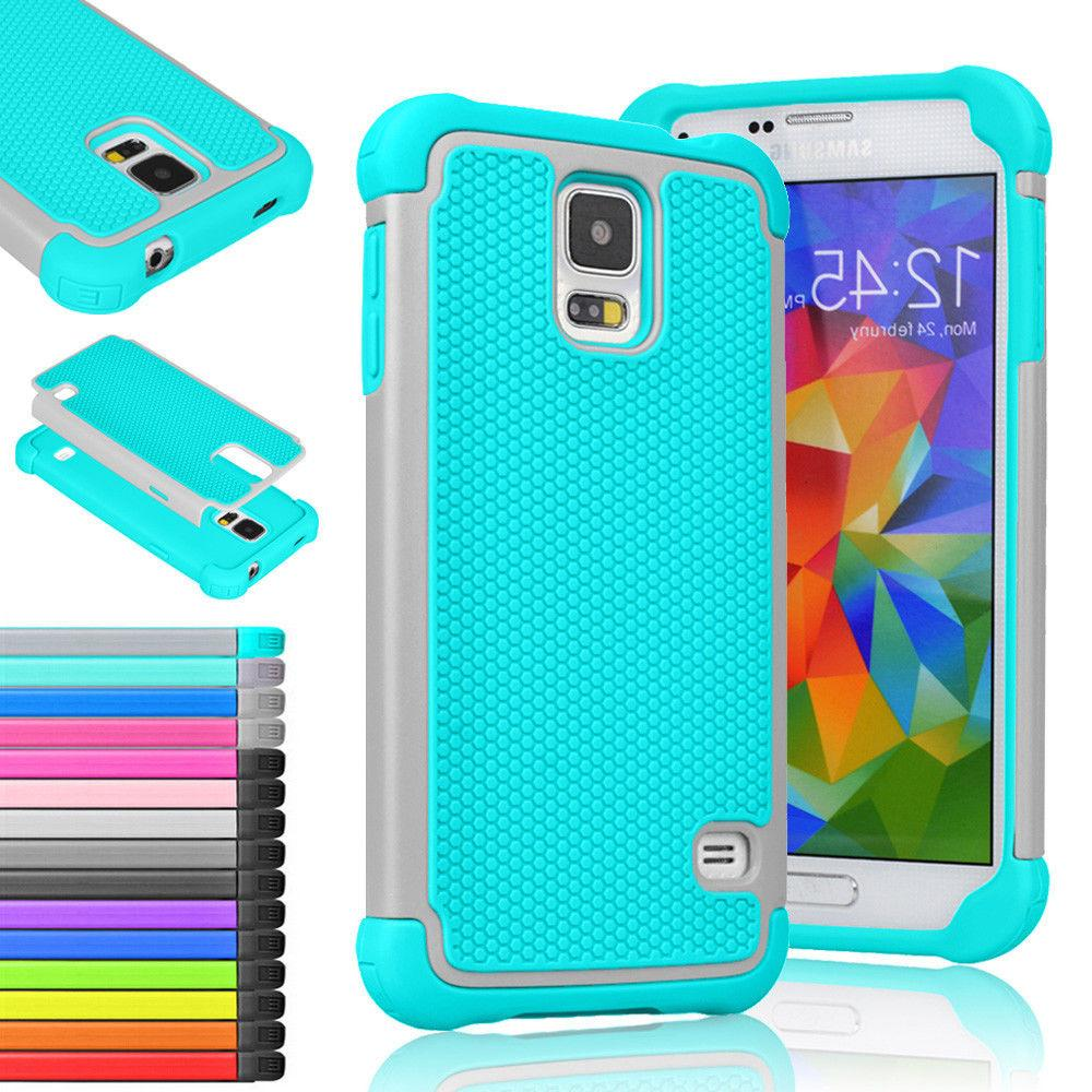 Hybrid Rugged Rubber Hard Shockproof Cover Case For Samsung