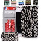 KroO ESPS-21 MD Aztec Patterned Protective Wallet Case Cover