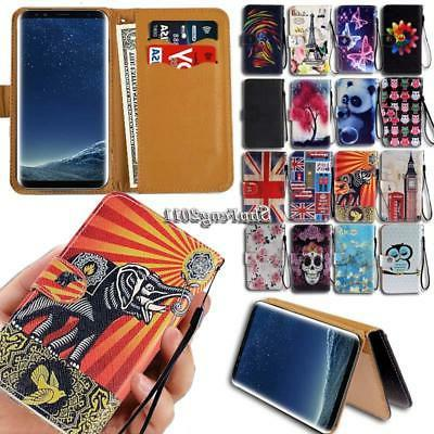 Leather Wallet Stand Magnetic Flip Case Cover For Samsung Ga