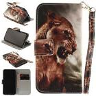 Lion Magnetic PU Stand Case Wallet Cover For Android Phone i
