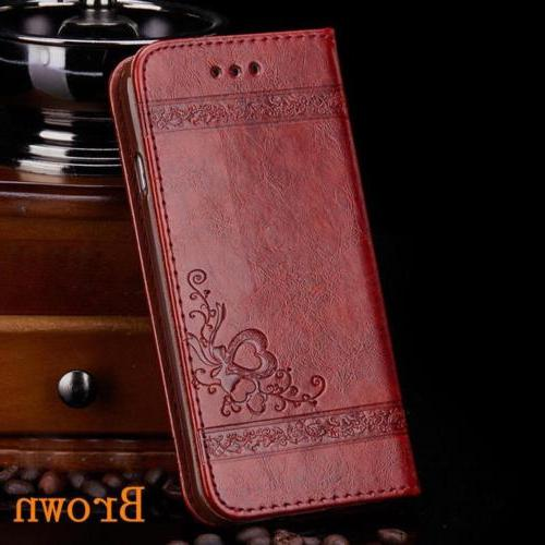 Luxury Leather Flip Card Wallet Stand iPhone 6 7 X