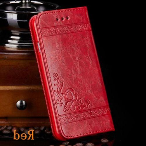 Luxury Flip Card Wallet Stand fo iPhone 6 7 Plus X