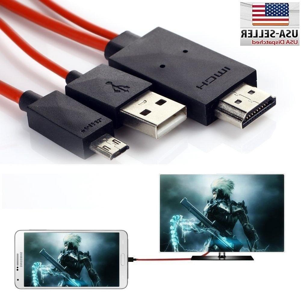 MHL Micro USB to HDMI 1080P HD TV Cable Adapter Samsung Gala
