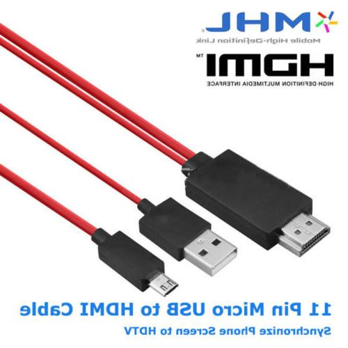 For Samsung 4 5 11Pin MHL to HDMI Cord