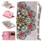 Painted Flip PU Stand Case Wallet Cover For Android Phone iP