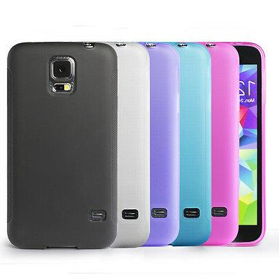 Matte Back 5 Colors Flexible TPU Case for Samsung Galaxy S5