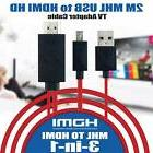 Micro USB MHL to HDMI 1080P HDTV Cable Adapter for Samsung G