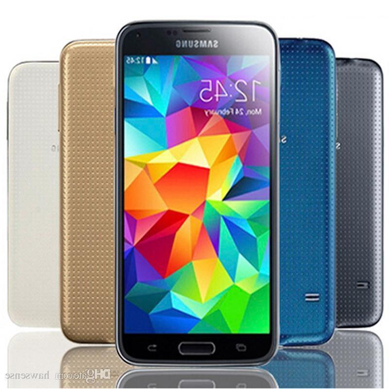 New Samsung Galaxy S5 SM-G900A White Black Gold Blue ATT GSM