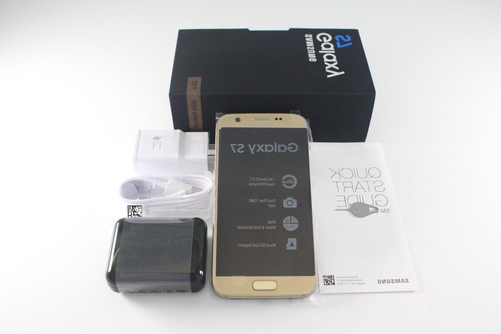 New Samsung Galaxy S7 SM-G930A Gold Platinum 32GB 12MP AT&T