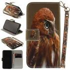 Owl Magnetic PU Stand Case Wallet Cover For Android Phone iP