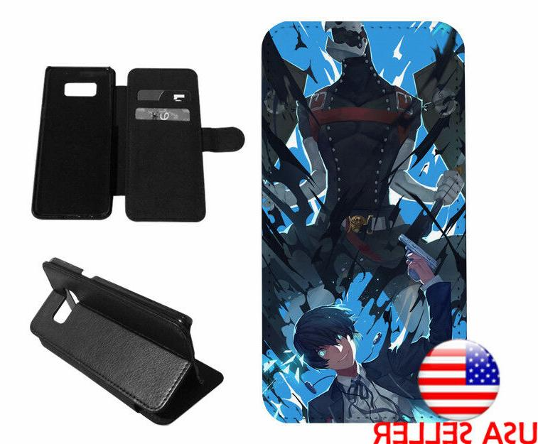 Persona 5 Video Game Leather Wallet Flip Stand Phone case fo