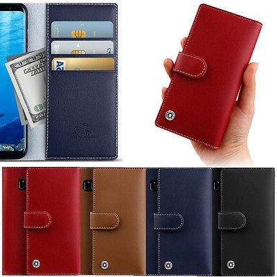 Praha Basic Wallet Case for Samsung Galaxy S9/Plus S8 S7 S6/
