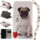 Pug Painting PU Stand Case Wallet Cover For Android Phone iP