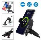 Qi Wireless Charger Car CD Slot Mount Holder For Samsung Gal
