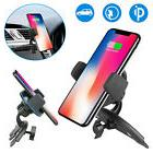 QI Wireless Fast Charger Car Mount Holder Stand For iPhoneX