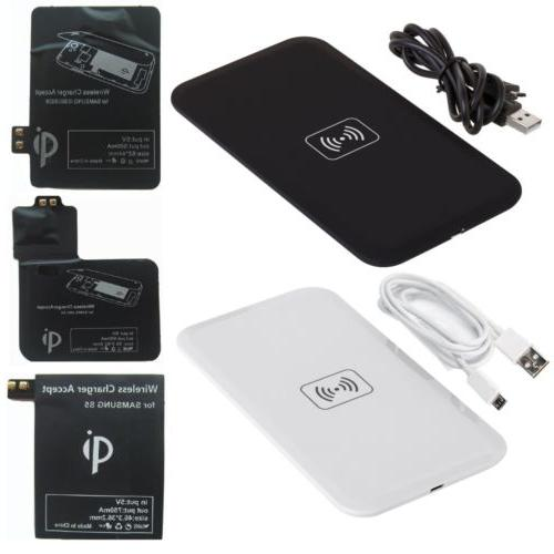 Qi Wireless Charger Pad + Receiver Kit for Samsung Galaxy S3
