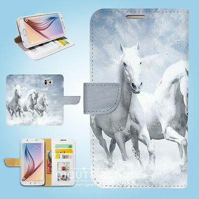 Samsung Galaxy S3 4 5 6 7 8 Edge Plus Note Wallet Case Cover