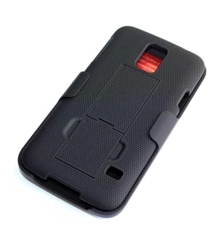 Samsung Galaxy S5 Belt Clip Holster Combo Case With KickStan