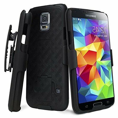 Samsung Galaxy S5 - HARD HOLSTER KICKSTAND COMBO CASE COVER