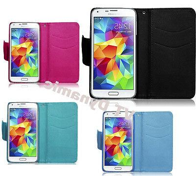 Samsung Galaxy S5 Wallet Credit Card ID Holder Pouch Phone C
