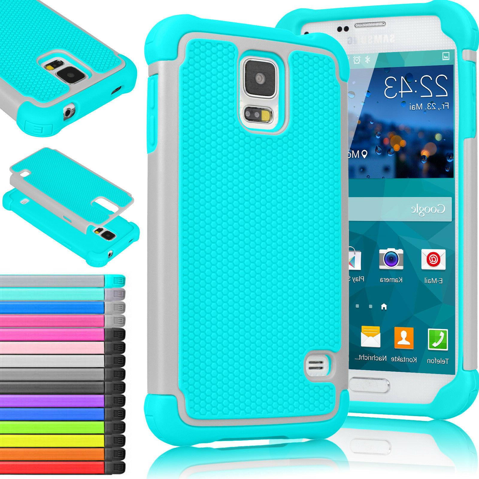 Shockproof Hybrid Rubber Hard Protective Case Cover for Sams