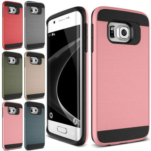 Shockproof Rubber Brushed Case For Samsung Galaxy S4 S5 S6 S