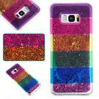 Soft Quicksand Rainbow TPU Case Cover For Android Phone iPho