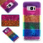 Soft Quicksand Rainbow TPU Case Cover For Samsung S8 Note 8
