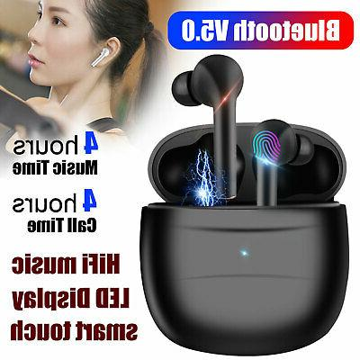 TWS Wireless Bluetooth 5.0 Earbuds Earphones Touch Stereo He